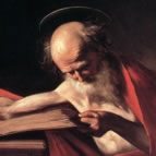 'Saint Jerome' - detail from a painting by Carravaggio (1573-1610)